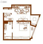 经纬国际蚂蚁公寓2室1厅1卫89平方米户型图