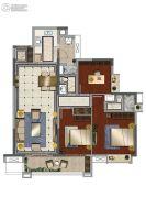 中海花湾壹号3室2厅2卫113平方米户型图