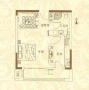 华瀚四季花园1室1厅1卫55平方米户型图