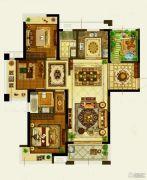 保利公园九里3室2厅2卫137平方米户型图