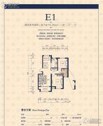 京都城2室2厅1卫90--91平方米户型图