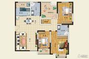 欧洲城3室2厅2卫144平方米户型图
