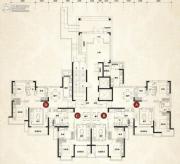 恒大翡翠华庭3室2厅1卫85--131平方米户型图