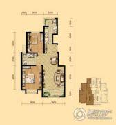 盛泽伯爵山2室2厅1卫87平方米户型图