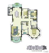 春晖园・随园3室2厅2卫214平方米户型图