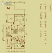 万科棠樾1室3厅1卫195平方米户型图