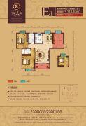 华耀天城2室2厅2卫113--126平方米户型图