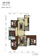 天润福熙大道4室2厅3卫196平方米户型图