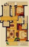新华园2室2厅2卫90平方米户型图