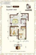 听涛苑2室1厅1卫86平方米户型图
