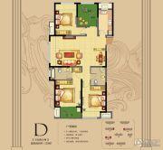 朗悦公园道1�4室2厅2卫129平方米户型图