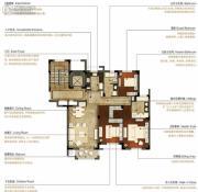 洛城中央御景3室2厅2卫137平方米户型图