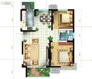 恒基碧翠锦华2室2厅1卫95平方米户型图