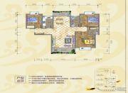 银海富都3室2厅2卫121平方米户型图