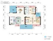 万象湖花园3室2厅1卫116--118平方米户型图