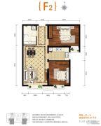 上上城青年社区二期2室1厅1卫84平方米户型图