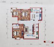 百丰花园3室2厅2卫113平方米户型图