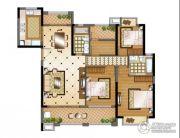 华强城4室2厅2卫158平方米户型图