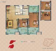 弘阳上湖3室2厅1卫91平方米户型图