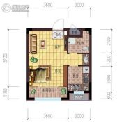 雷明锦程二期1室1厅1卫38平方米户型图