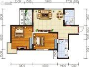宏府�d翔九天2室2厅1卫85平方米户型图