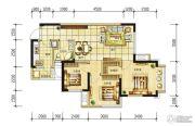 长虹和悦府3室2厅1卫75平方米户型图