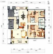 顺德华侨城・天鹅湖4室2厅3卫237平方米户型图