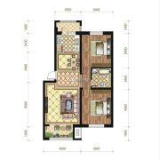 苏宁绿谷庄园2室2厅1卫91--101平方米户型图