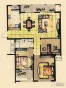 融侨观邸3室2厅1卫104平方米户型图
