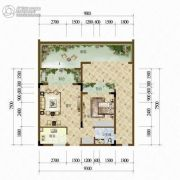 天籁谷1室1厅1卫57平方米户型图