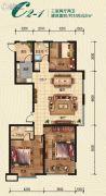 瀚星华府3室2厅2卫149平方米户型图