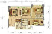 中铁骑士府邸3室2厅2卫95平方米户型图