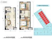 普陀龙湾2室2厅2卫51平方米户型图