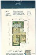 阜丰・大成郡2室2厅1卫72--73平方米户型图