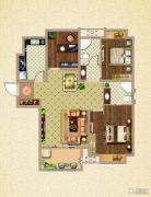 荣盛鹭岛荣府3室2厅2卫102平方米户型图