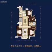 万科铂萃园4室2厅2卫200平方米户型图