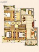 仁和景苑3室2厅2卫135平方米户型图