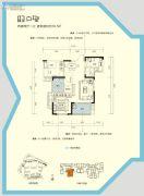 三一歌雅郡2室2厅1卫75--80平方米户型图
