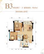 锦华都2室2厅1卫69平方米户型图
