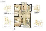 东润城3室2厅1卫87--89平方米户型图