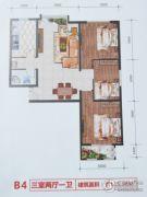 元和国际3室2厅1卫115平方米户型图