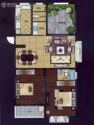华夏世纪锦园3室2厅2卫122平方米户型图