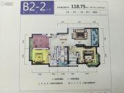 筑友・双河湾3室2厅2卫118平方米户型图