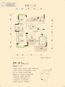 宏德・仙域华庭4室2厅2卫143平方米户型图