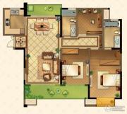 星河国际3室2厅2卫134平方米户型图