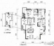 新幸福领汇家园3室2厅2卫114平方米户型图
