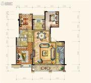 黄岩中梁香缇公馆4室2厅3卫164平方米户型图