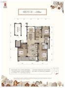 和家园臻园4室2厅2卫0平方米户型图