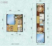 中铁逸都2室2厅2卫77平方米户型图