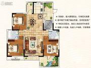 天翔茗苑3室2厅2卫142平方米户型图